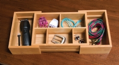 Bamboo Expandable Organizer, 5-compartments