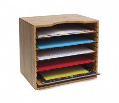 Bamboo File Organizer with 5 Dividers