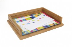 Bamboo Stacking Letter Tray