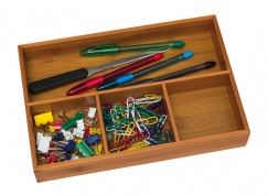 Bamboo Organizer Tray, 4-Compartments