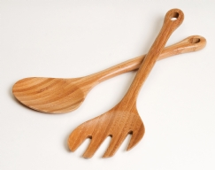 Bamboo Hanging Salad Servers