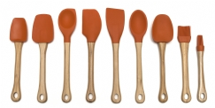 Bamboo & Silicone Tools, Orange