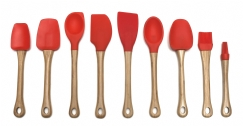 Bamboo & Silicone Tools, Red