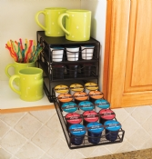 In-Cabinet Coffee Pod Drawer, 3-Tier, Black