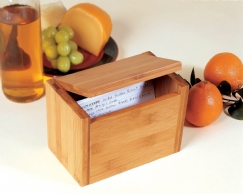 Bamboo Recipe Box