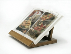 Bamboo & Acrylic Recipe Book Holder