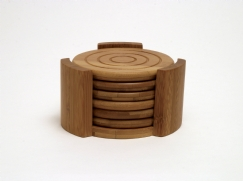 Bamboo Coasters, 7-Piece Set