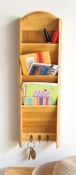 Bamboo 3-Tier Vertical Letter Holder
