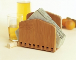 Bamboo Adjustable Napkin Holder