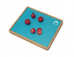 Bamboo Cutting Board with 6 Cutting Mats