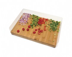 Bamboo Edge Guard Cutting Board with 4 Magnetic Acrylic Sides