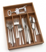 Bamboo Flatware Organizer, 5 compartments
