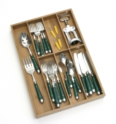 Bamboo Flatware Organizer, 7 compartments