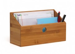 Bamboo 2 Slot Organizer with Acrylic Dividers