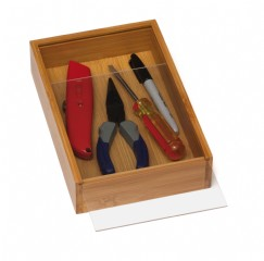 Bamboo 6 x 9 Organization Box with Sliding Acrylic Cover