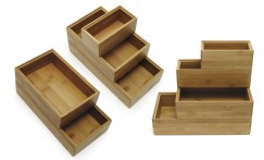 Bamboo Organizational Stacking Boxes