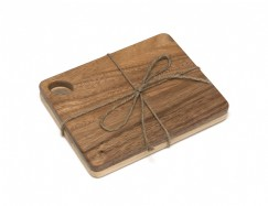 Acacia and Beechwood Cutting Boards, Set of 2