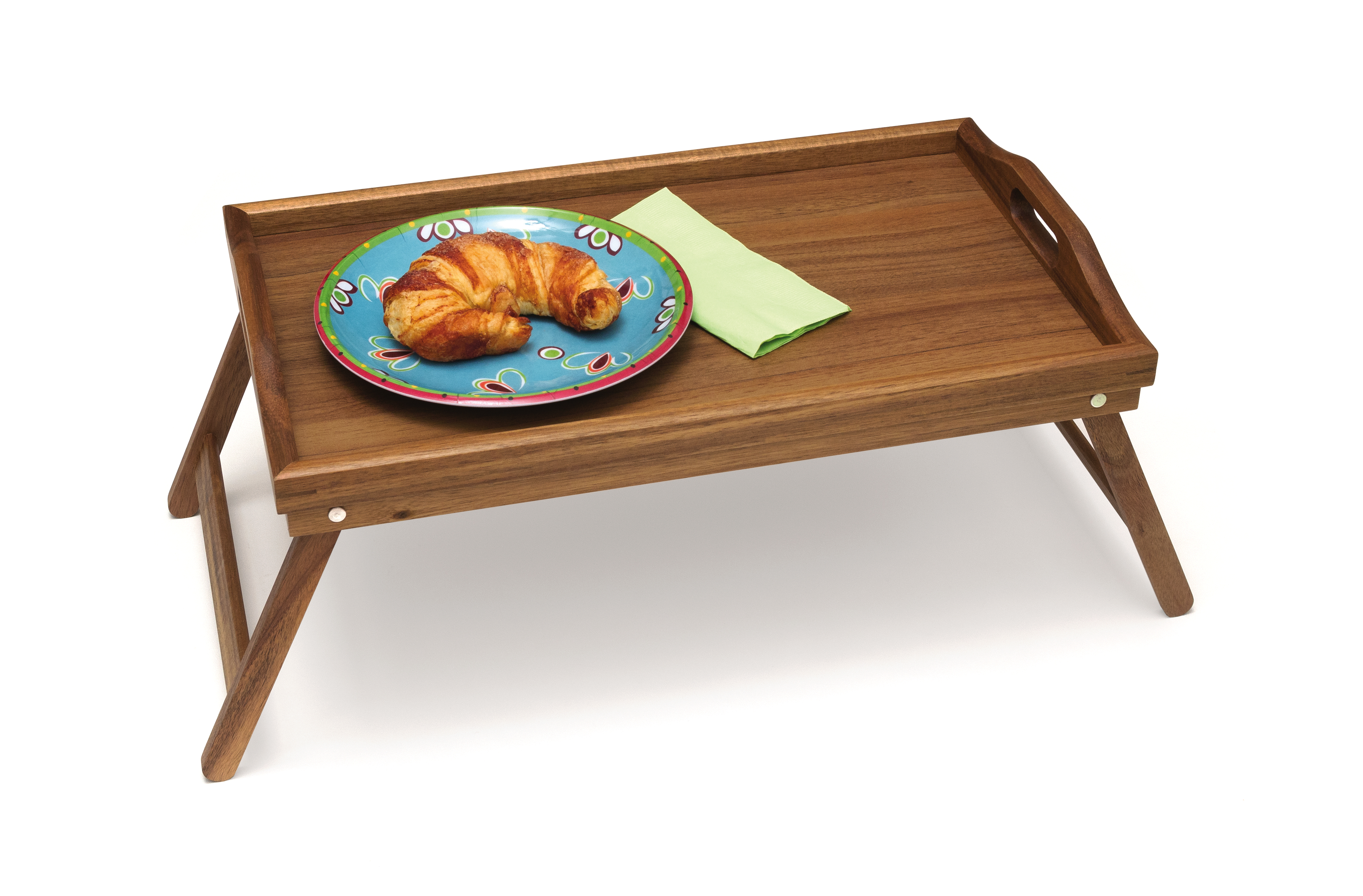 Beau Acacia Bed Tray With Folding Legs
