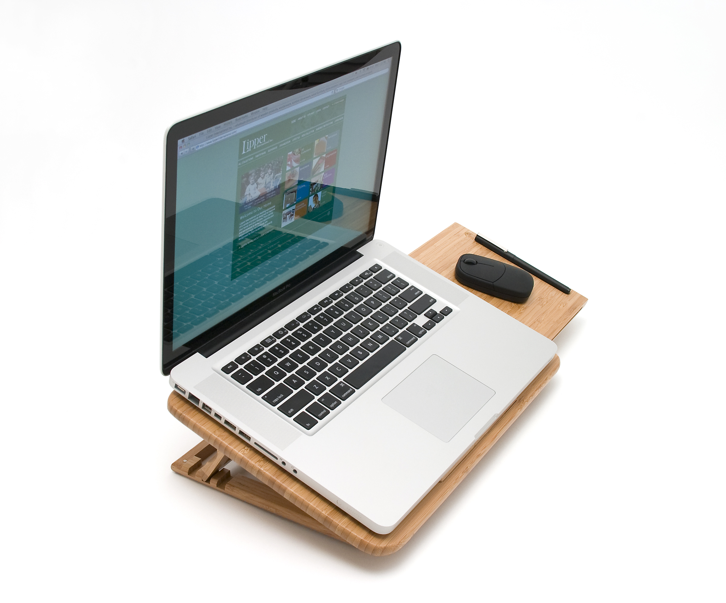 bamboo expandable laptop stand slatted