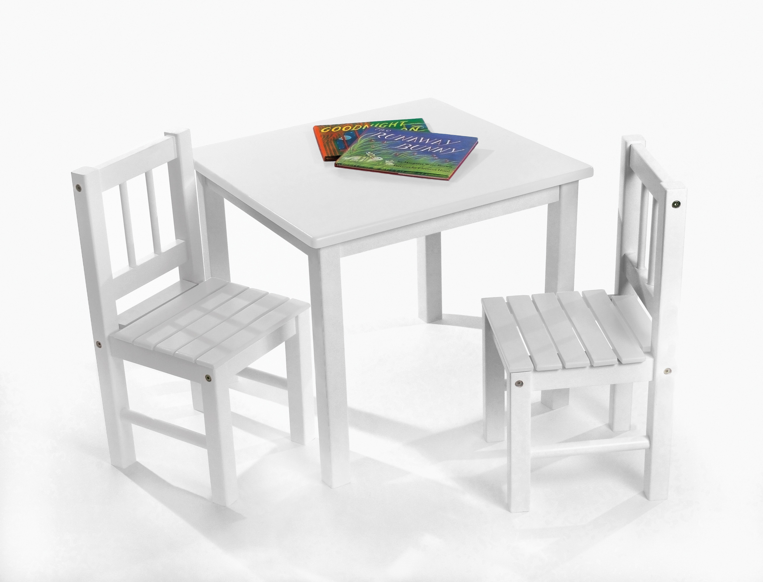 Child s Table & Chairs 3 Piece Set White