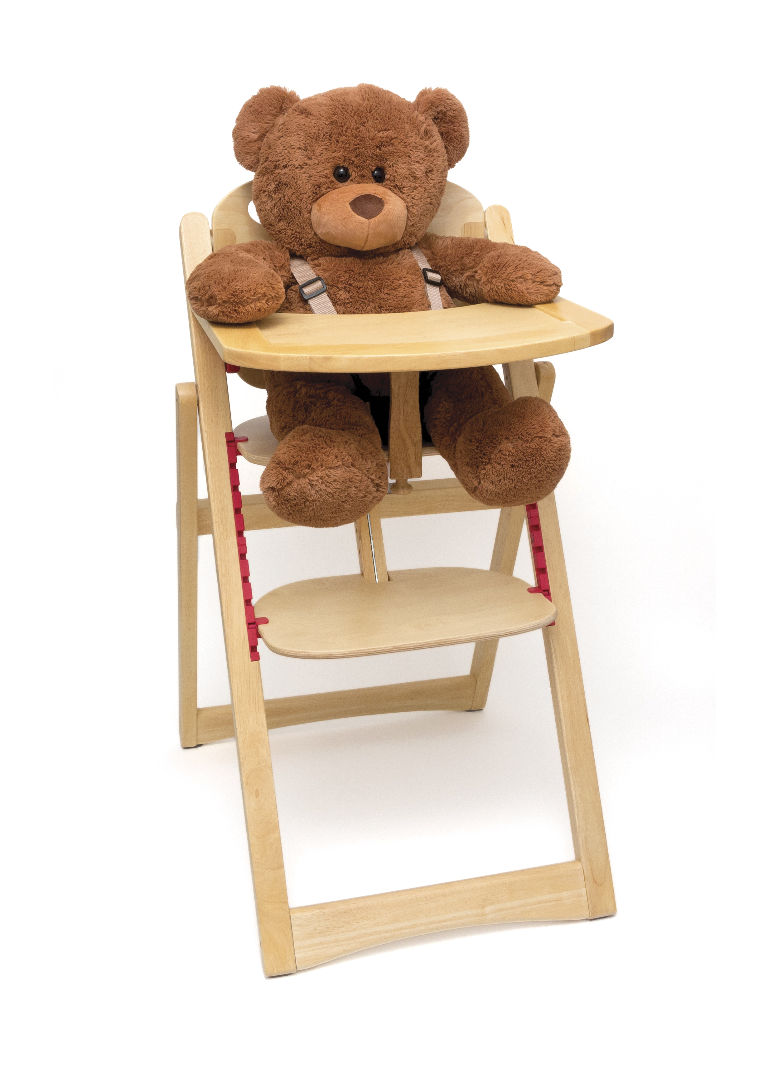 Child s Folding High Chair Natural Finish