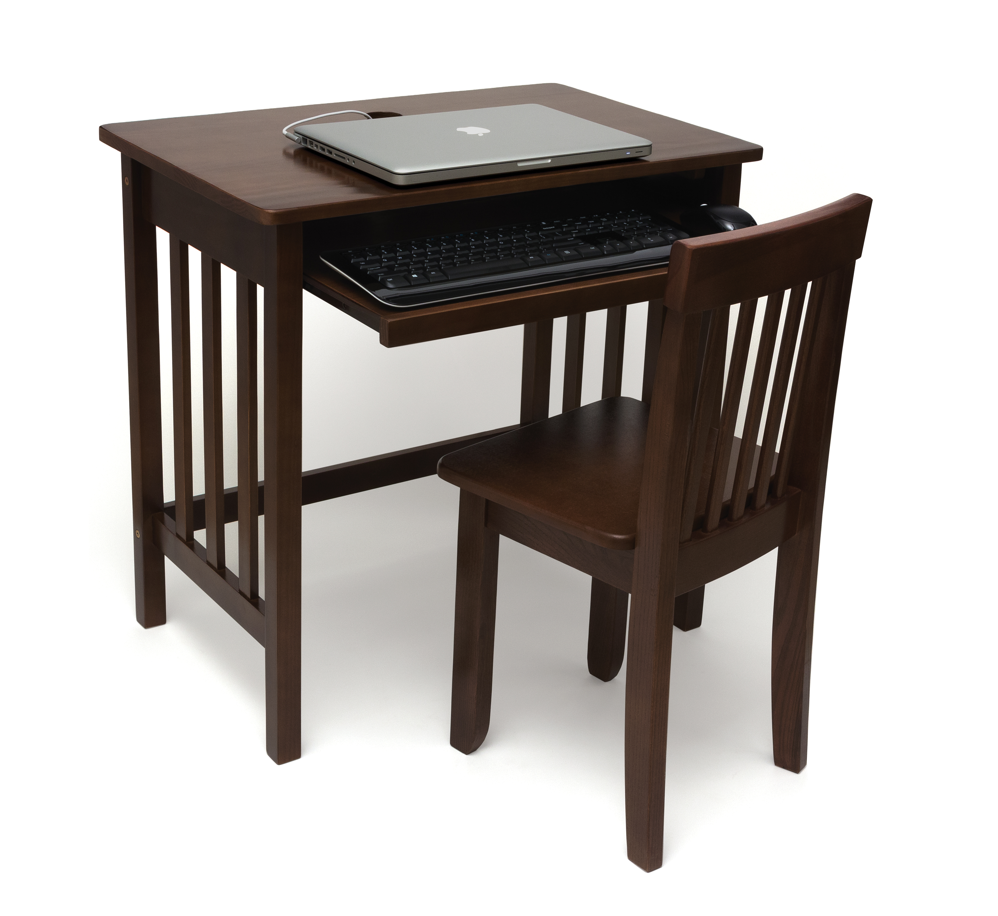 Desk wooden children s desk moulin roty furniture children s desk - Childs Computer Desk And Mystic Chair Walnut Finish Lipper
