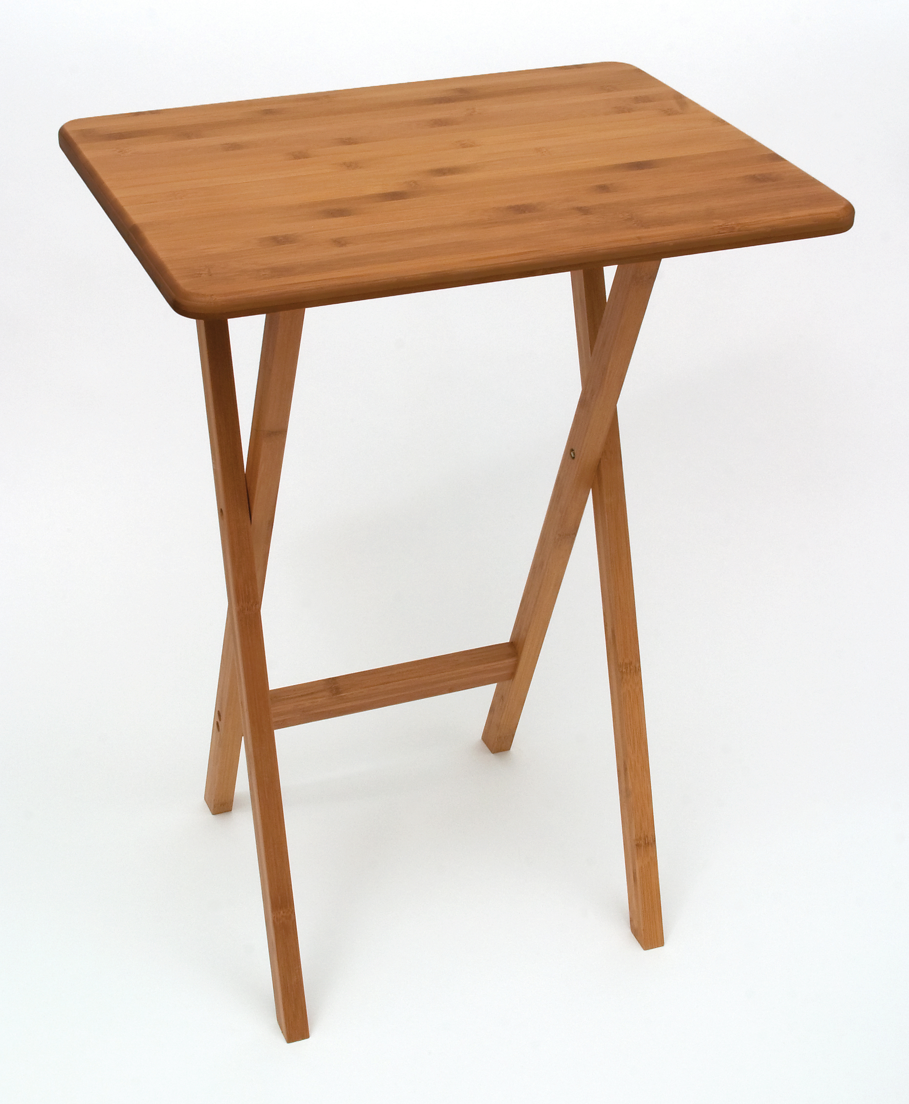 & Bamboo Rectangular Snack Tables | Lipper International Snack Tables