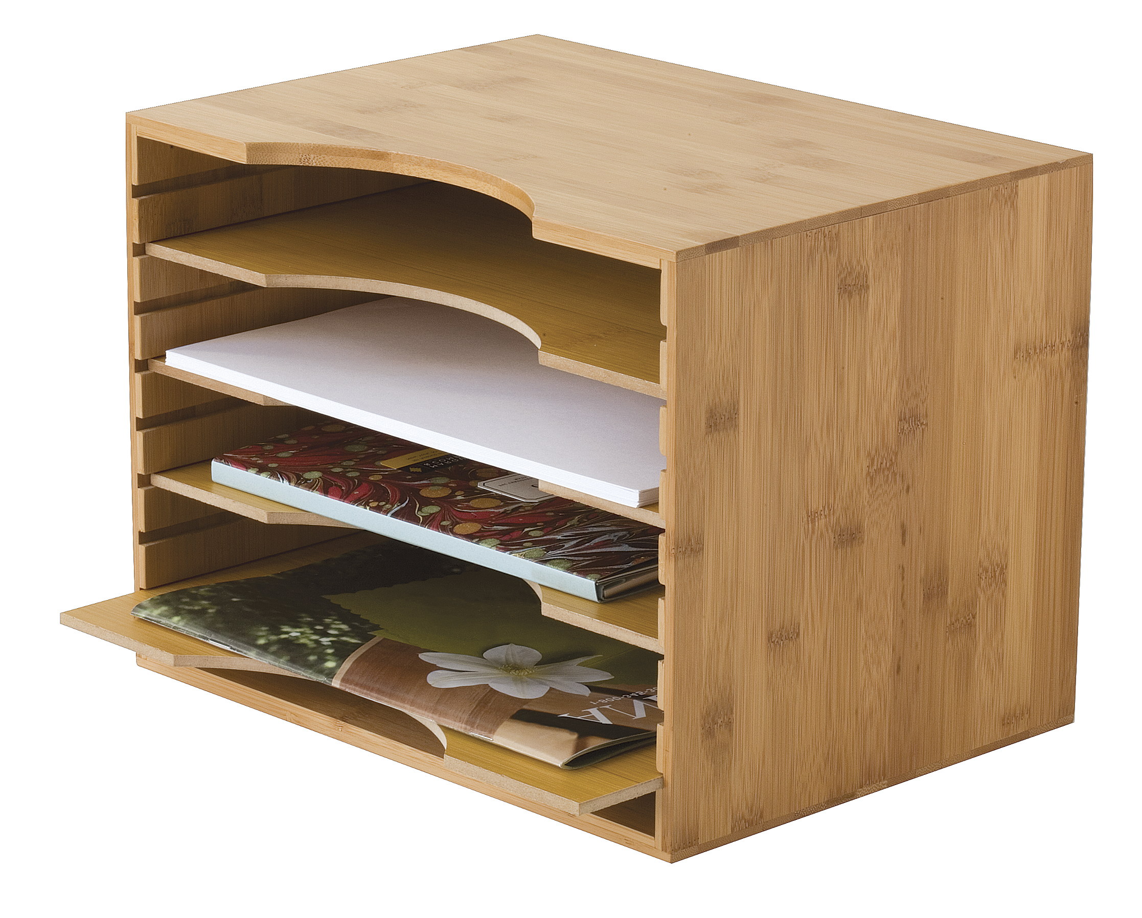 NEW Bamboo File Box with Acrylic Dividers | Lipper International ...