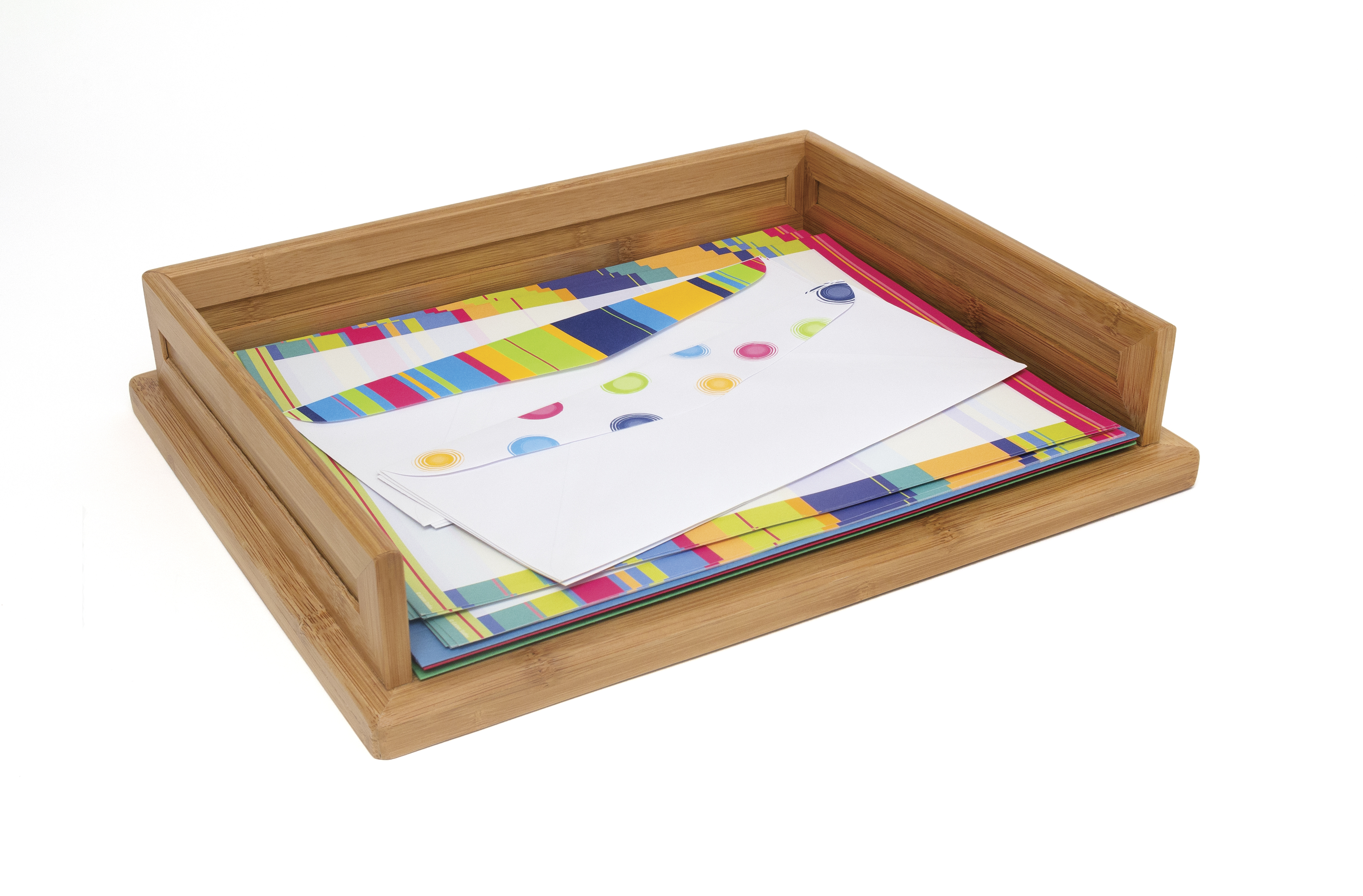 bamboo stacking letter tray lipper international desk organizers