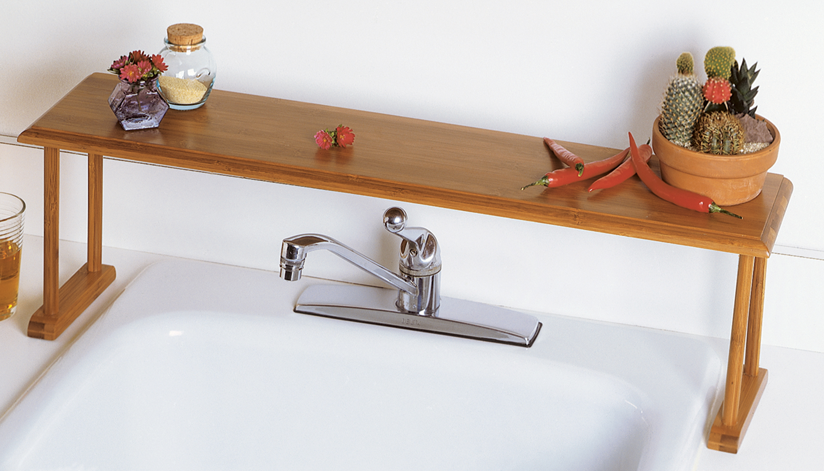 Bamboo Over-the-Sink Shelf | Lipper International Shelves
