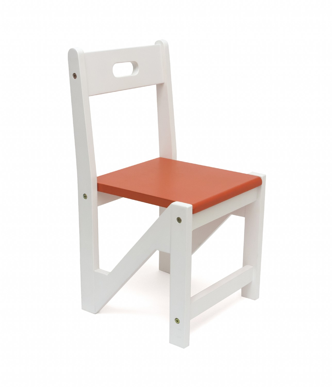 Kids Zigzag Stacking Chairs Set Of 2 Orange Lipper