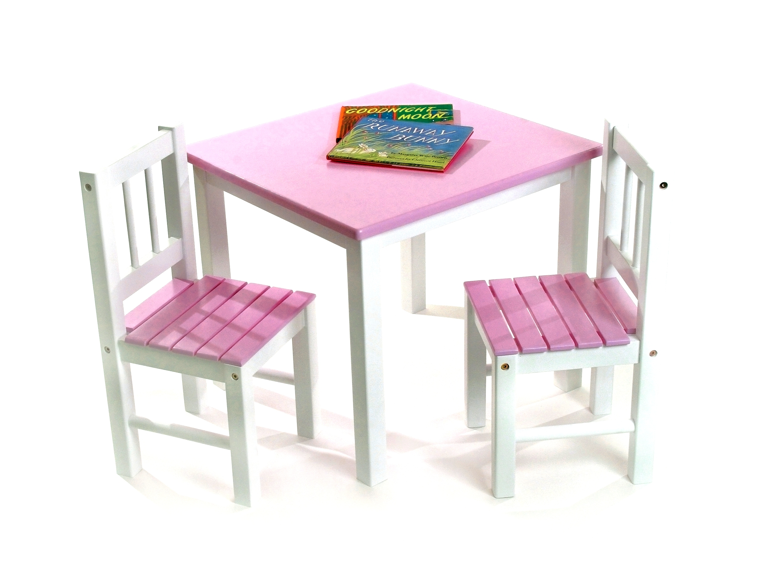 Child S Table Chairs 3 Piece Set Pink White Lipper International Chair Sets