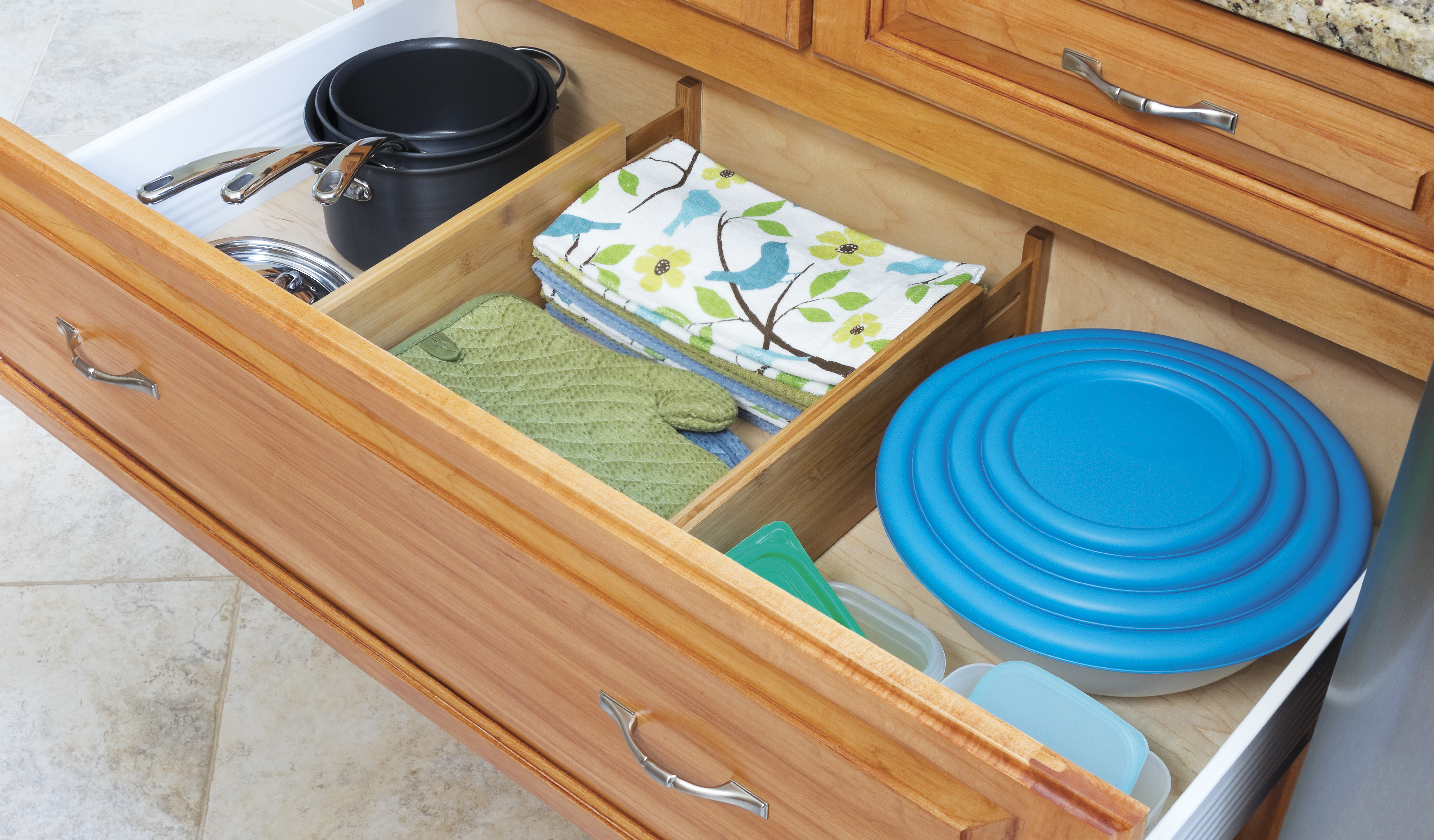 Bamboo Kitchen Drawer Dividers Set Of Two Lipper International